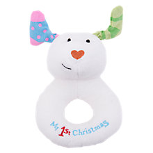 Buy The Snowdog Soft Ring Rattle Online at johnlewis.com