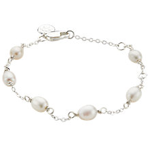 Buy Molly Brown London Sterling Silver Pearl Station Bracelet Online at johnlewis.com