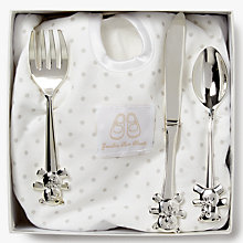 Buy English Trousseau Silver Plated Cutlery Set with Bib Online at johnlewis.com