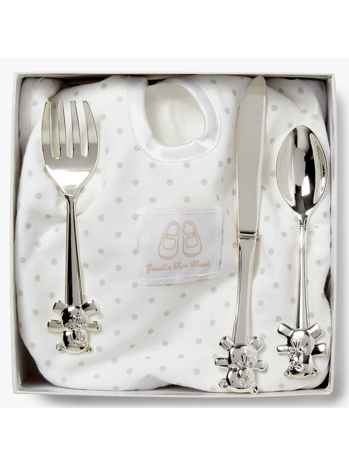 BuyEnglish Trousseau Silver Plated Cutlery Set with Bib Online at johnlewis.com