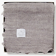 Buy English Trousseau Dashing Hare Collection Shawl, Grey Marl Online at johnlewis.com