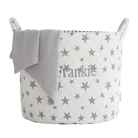 Buy My 1st Years Star Print Storage Bag, White & Grey Online at johnlewis.com