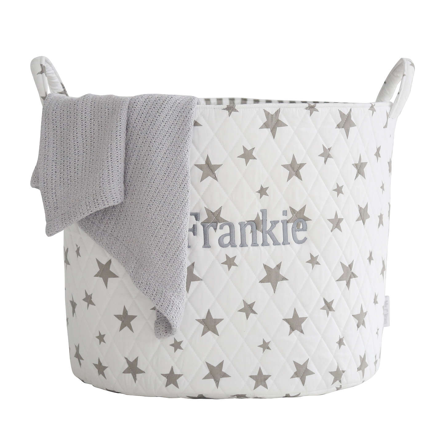BuyMy 1st Years Star Print Storage Bag, White & Grey Online at johnlewis.com