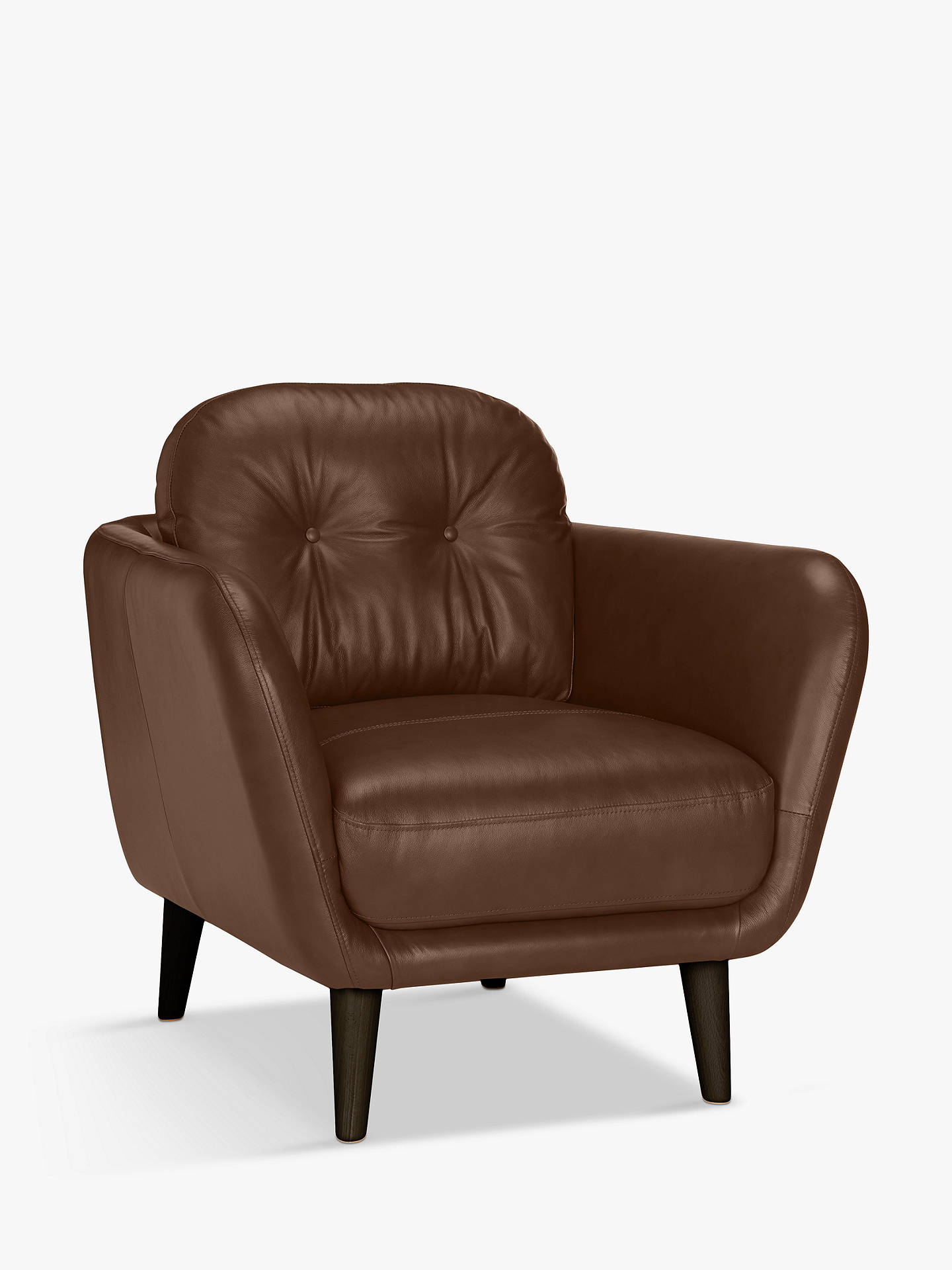 Buy House by John Lewis Arlo Leather Armchair, Dark Leg, Contempo Castanga Online at johnlewis.com