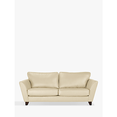 John Lewis Oslo Leather Large 3 Seater Sofa, Dark Leg