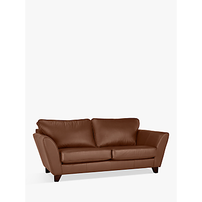 John Lewis & Partners Oslo Leather Large 3 Seater Sofa, Dark Leg