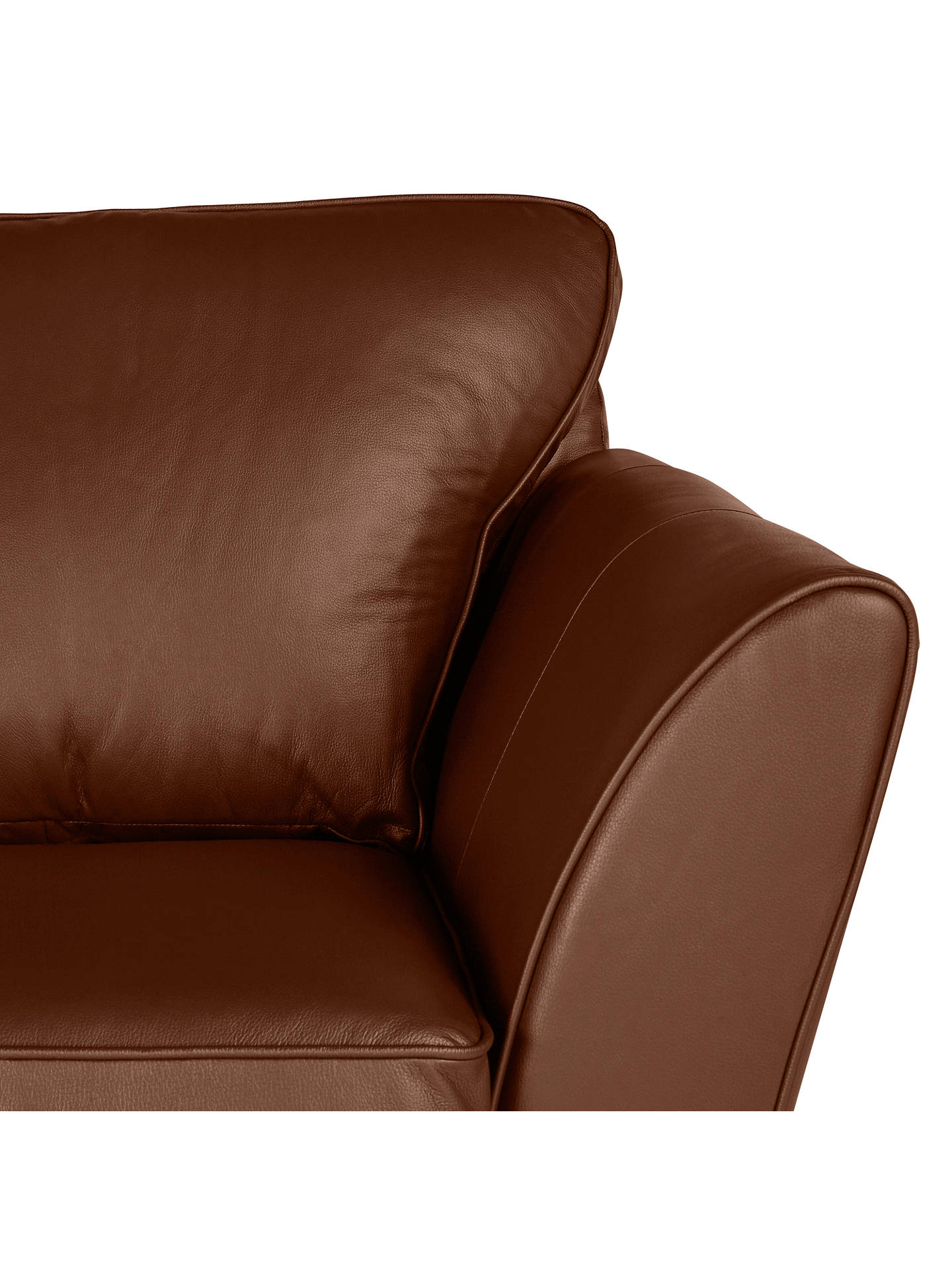 Buy John Lewis & Partners Oslo Leather Large 3 Seater Sofa, Dark Leg, Contempo Castanga Online at johnlewis.com