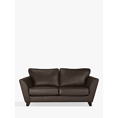 John Lewis & Partners Oslo Leather Medium 2 Seater Sofa, Dark Leg