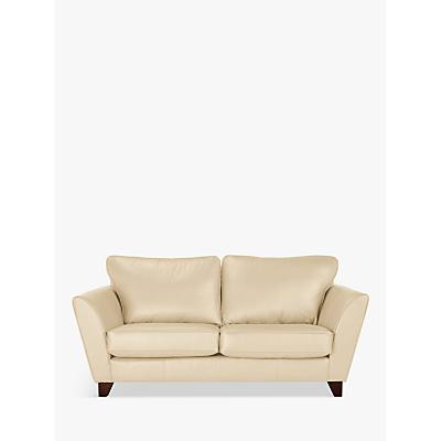 John Lewis Oslo Leather Medium 2 Seater Sofa, Dark Leg