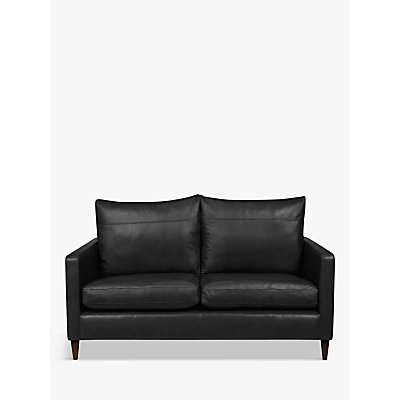 John Lewis Bailey Leather Small 2 Seater Sofa, Dark Leg