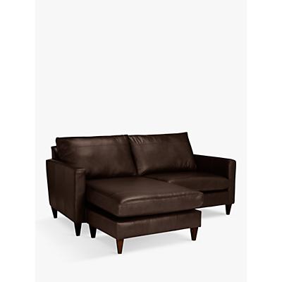 John Lewis & Partners Bailey Leather LHF Chaise End Sofa ...