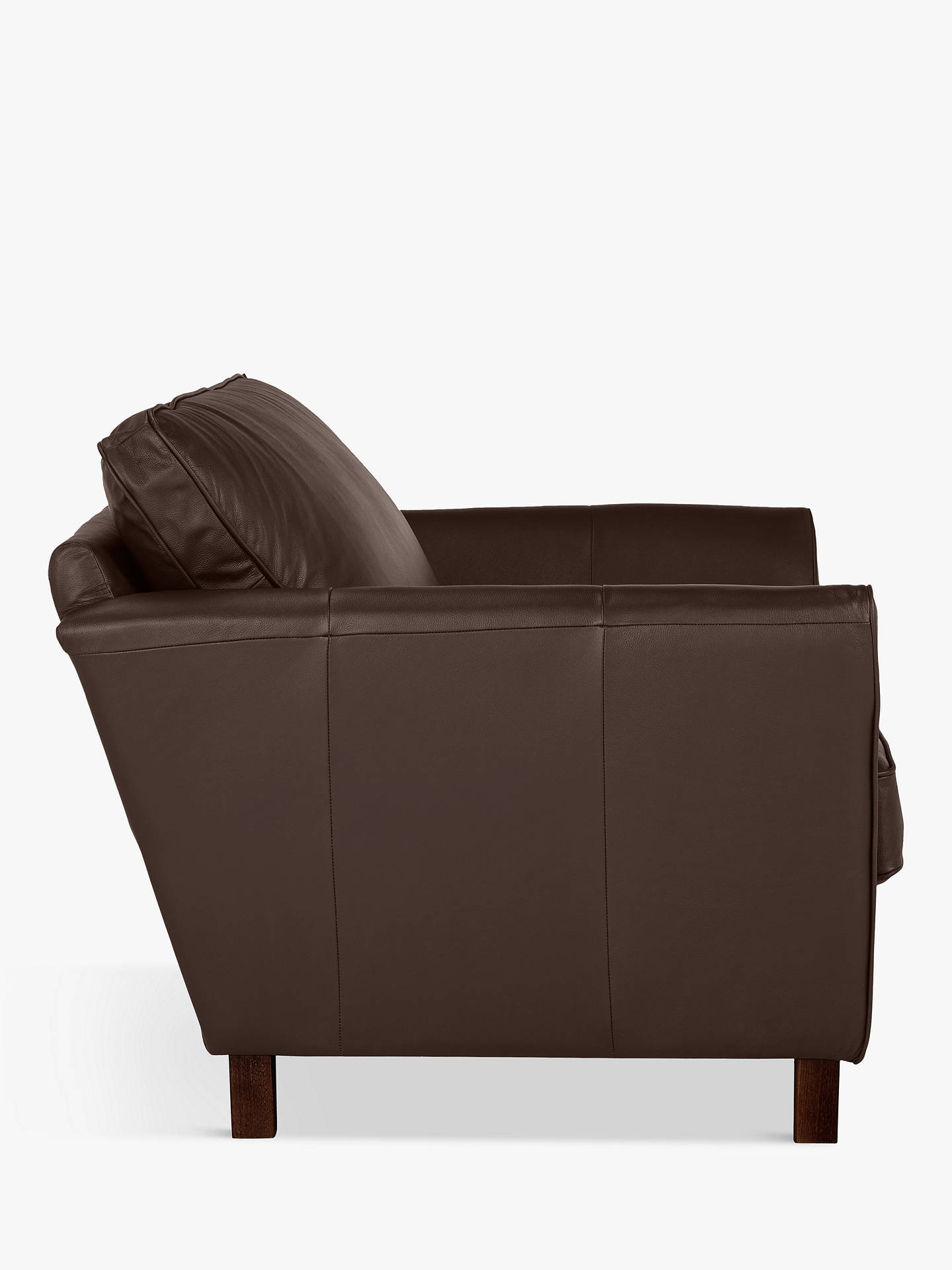 Buy John Lewis & Partners Oslo Leather Snuggler, Dark Leg, Contempo Dark Chocolate Online at johnlewis.com