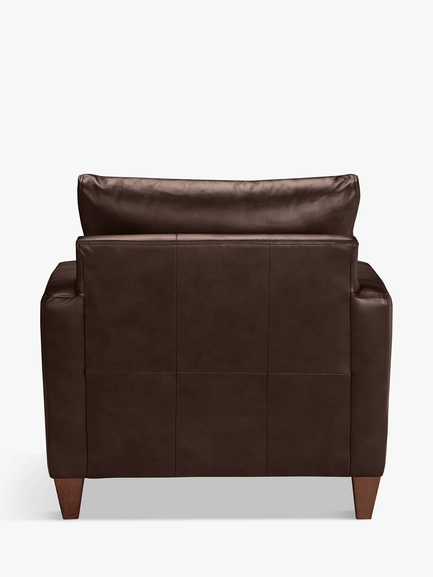 Buy John Lewis & Partners Bailey Leather Snuggler, Dark Leg, Contempo Dark Chocolate Online at johnlewis.com
