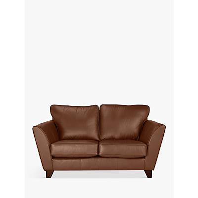John Lewis Oslo Leather Small 2 Seater Sofa, Dark Leg