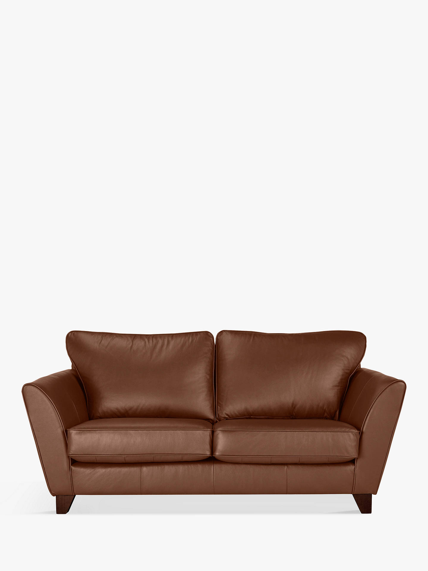 Buy John Lewis & Partners Oslo Leather Medium 2 Seater Sofa, Dark Leg, Contempo Castanga Online at johnlewis.com