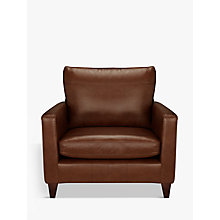 Buy John Lewis Bailey Leather Snuggler, Dark Leg Online at johnlewis.com