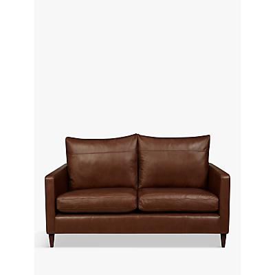 John Lewis Bailey Leather Small 2 Seater Sofa, Dark Leg