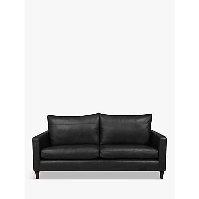 John Lewis Bailey Leather Large 3 Seater Sofa, Dark Leg