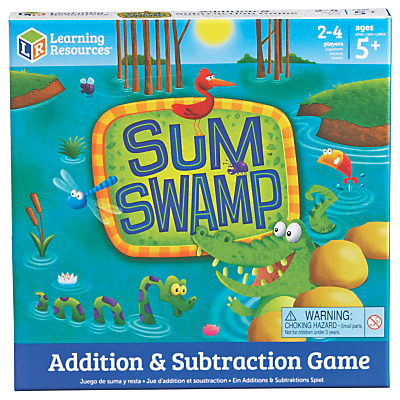 Image of Learning Resources Sum Swamp Additions & Subtraction Game
