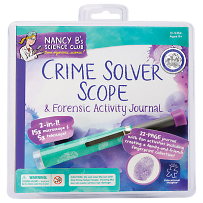Image of Nancy B's Science Club Crime Solver Scope and Forensic Activity Journal
