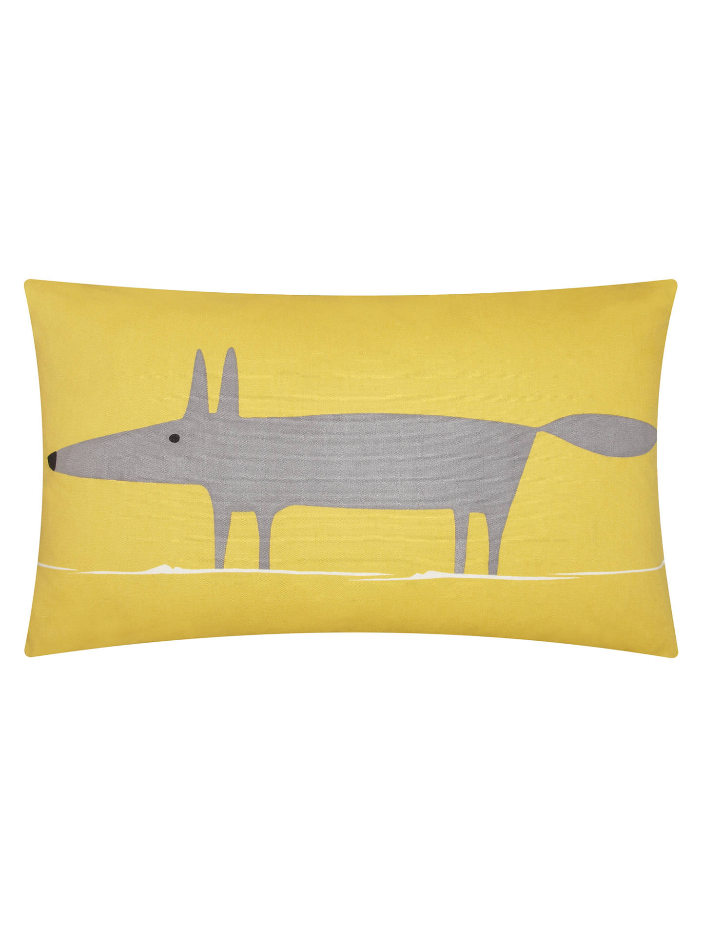 Buy Scion Mr Fox Cushion, Yellow / Steel Online at johnlewis.com