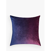 Buy John Lewis Ombre Velvet Cushion, Midnight Online at johnlewis.com
