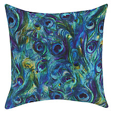 Buy John Lewis Zelda Velvet Cushion, Peacock Online at johnlewis.com