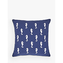 Buy John Lewis Sami The Seahorse Cushion, Navy Online at johnlewis.com