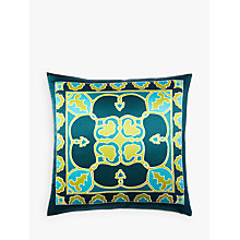 Buy west elm Quarzia Malas Cushion, Teal Online at johnlewis.com