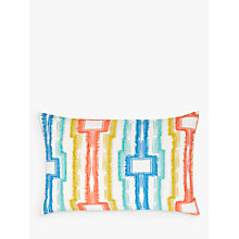 Buy House by John Lewis Fringed Geo Cushion, Multi Online at johnlewis.com