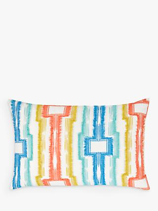 House by John Lewis Fringed Geo Cushion, Multi