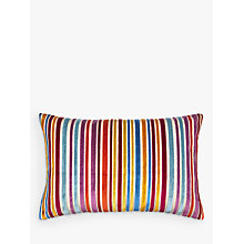 Buy John Lewis Velvet Stripe Cushion, Multi Online at johnlewis.com