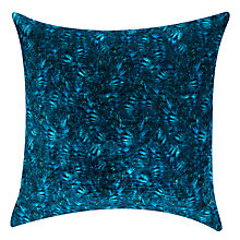 Buy John Lewis Zelda Velvet Cushion, Navy Online at johnlewis.com