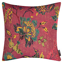 Buy John Lewis Leona Floral Cushion, Dahlia Online at johnlewis.com