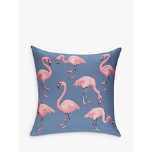 Buy John Lewis Midnight Flamingo Cushion, Navy Online at johnlewis.com