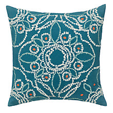 Buy John Lewis Kasmanda Cushion, Agate Blue Online at johnlewis.com