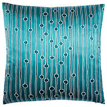 Buy west elm Quarzia Alga Cushion, Teal Online at johnlewis.com