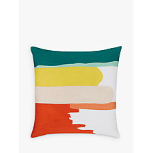 Buy House by John Lewis Painted Stripe Cushion, Multi Online at johnlewis.com
