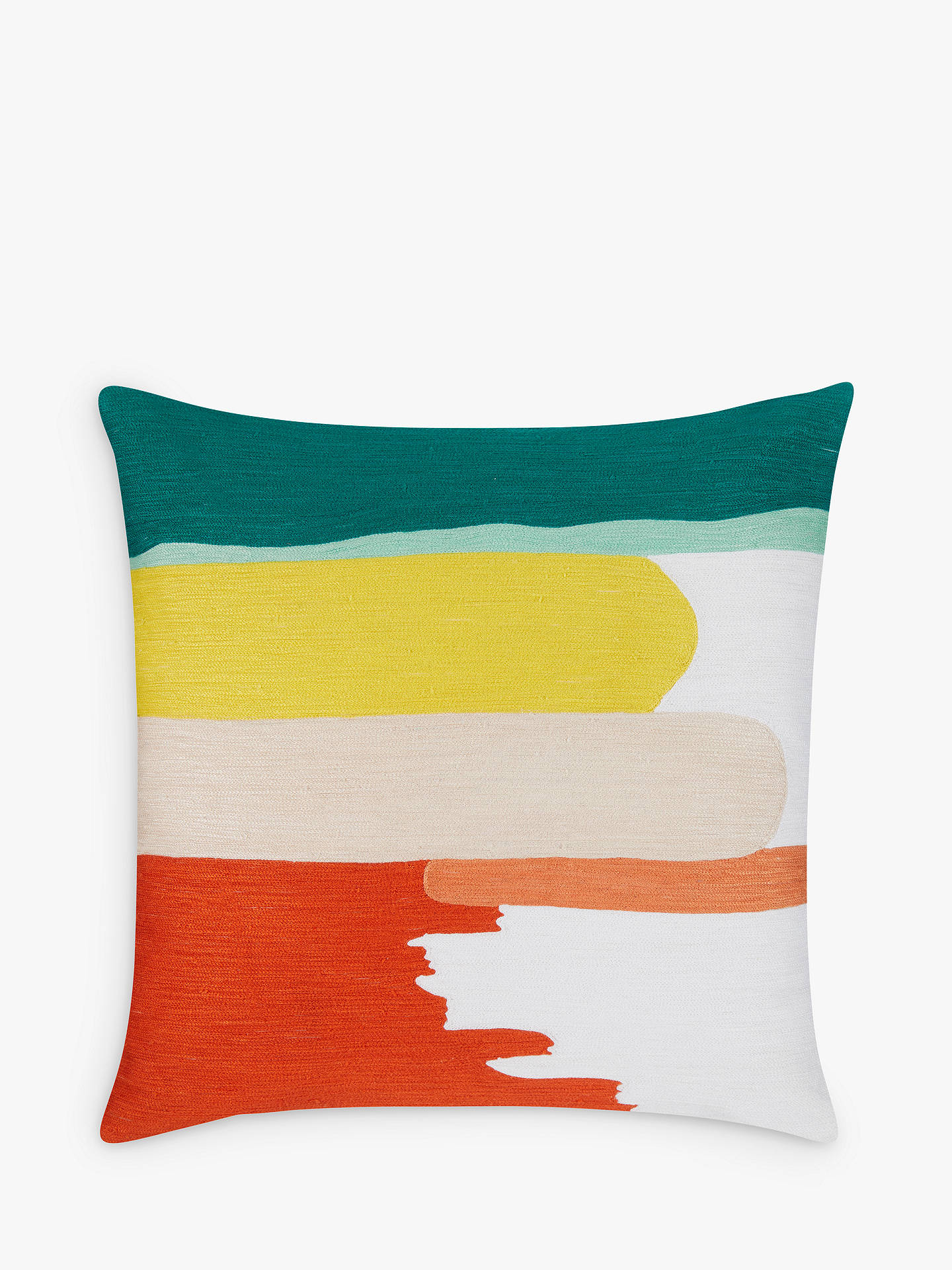 BuyHouse by John Lewis Painted Stripe Cushion, Multi Online at johnlewis.com