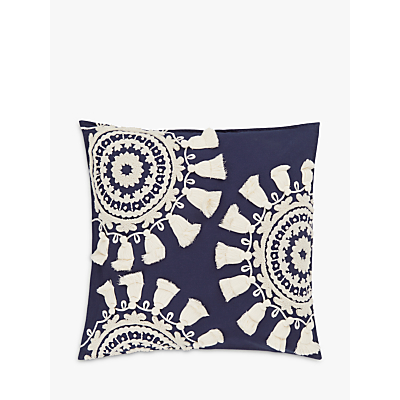 John Lewis Goa Medallion Cushion, Blue