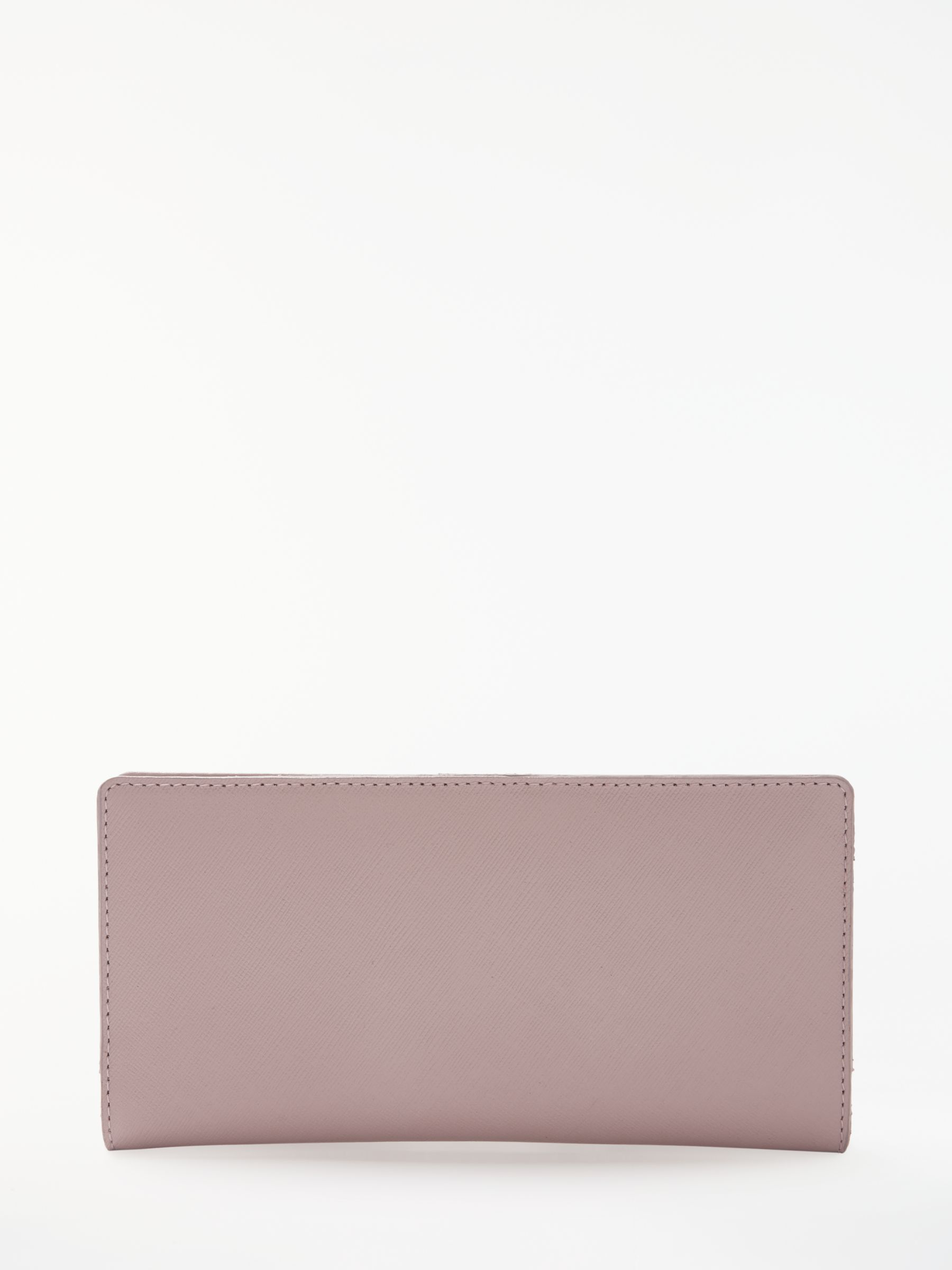 69e77874944 John Lewis & Partners Marie Saffiano Leather Foldover Purse, Pink at John  Lewis & Partners