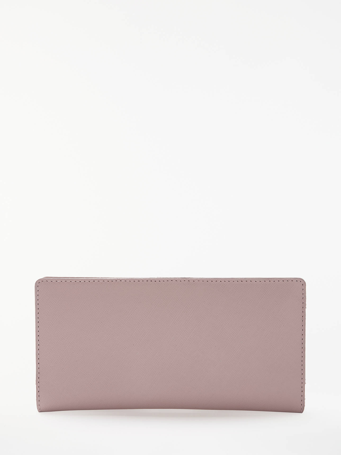 89ca6736162 Buy John Lewis & Partners Marie Saffiano Leather Foldover Purse, Pink  Online at johnlewis.