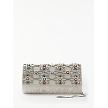 Buy John Lewis Calla Floral Beaded Clutch, Cream Online at johnlewis.com