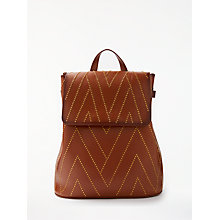 Buy AND/OR Isabella Leather Stud Backpack, Tan Online at johnlewis.com