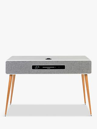 Ruark R7 Mk3 DAB/DAB+/FM/Internet Radio & CD Bluetooth Wi-Fi Wireless All-In-One Music System, Soft Grey with AV Mount