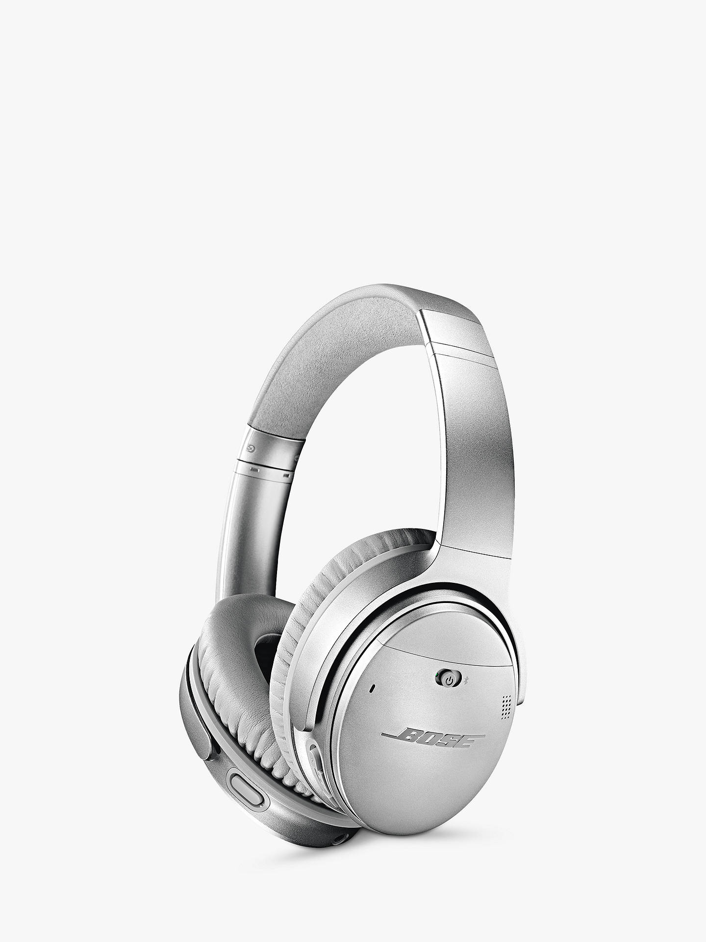 BuyBose® QuietComfort® Noise Cancelling® QC35 II Over-Ear Wireless Bluetooth NFC Headphones With Mic/Remote & Built-in Google Assistant & Alexa, Silver Online at johnlewis.com