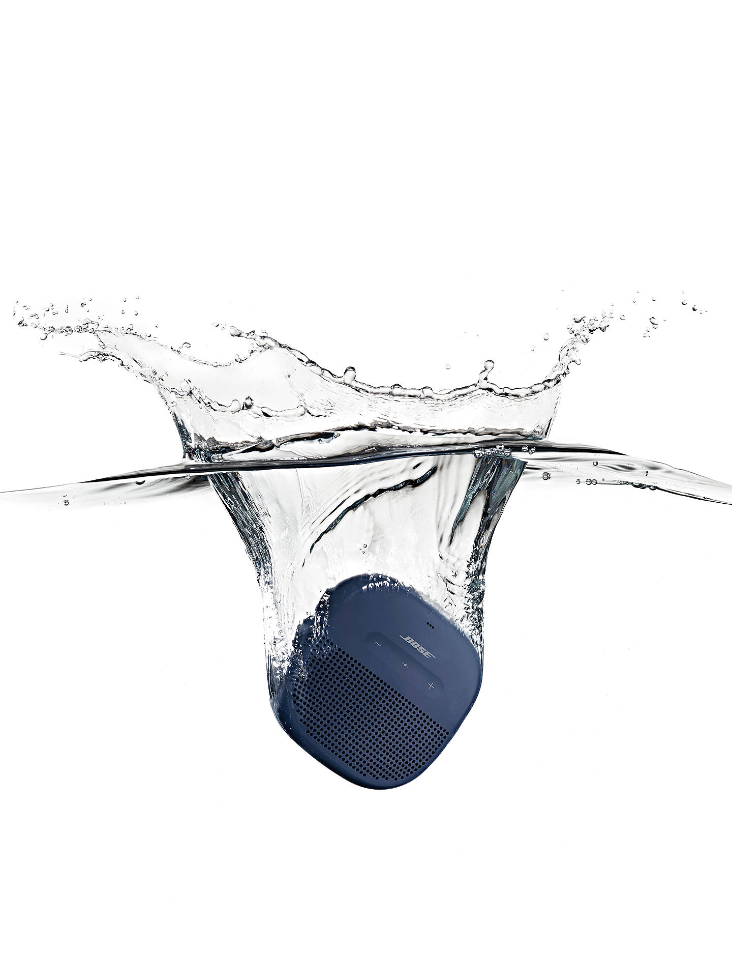 BuyBose® SoundLink® Micro Water-resistant Portable Bluetooth Speaker with Built-in Speakerphone, Midnight Blue Online at johnlewis.com