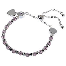 Buy Adele Marie Heart Charm Adjustable Bracelet Online at johnlewis.com