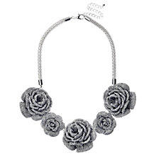 Buy Adele Marie Rose Flower Necklace, Silver Online at johnlewis.com