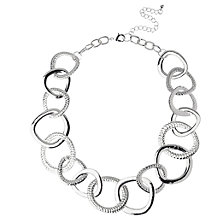 Buy Adele Marie Graduating Flat Link Necklace, Silver Online at johnlewis.com